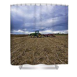 North Fork Tractor Shower Curtain