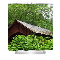 North Fork Yachats Bridge 1 Shower Curtain by Methune Hively