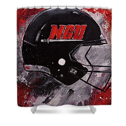 North Greenville University Football Helmet Wall Art Painting Shower Curtain