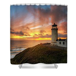 North Head Dreaming Shower Curtain by Ryan Manuel