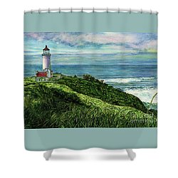 North Head Lighthouse And Beyond Shower Curtain