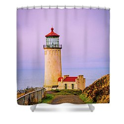 Shower Curtain featuring the photograph North Head Lighthouse by Bryan Carter