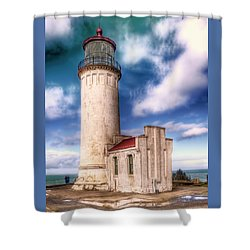 North Head Lighthouse - Washington Coast Shower Curtain