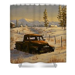North Idaho Yard Art Shower Curtain