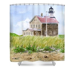 North Light - Block Island Shower Curtain