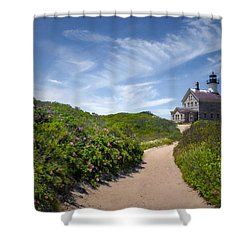 North Light Shower Curtain by Robin-Lee Vieira