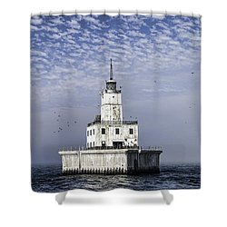 North Manitou Shoal Light Shower Curtain