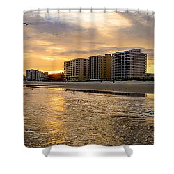 North Myrtle Beach Sunset Shower Curtain by David Smith