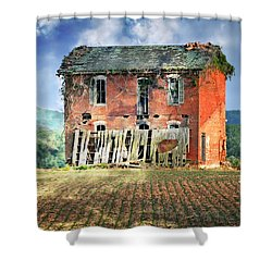 North Of Clarksville Shower Curtain by Marty Koch