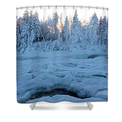 North Of Sweden Shower Curtain by Tamara Sushko
