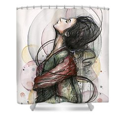 Beautiful Lady Shower Curtain