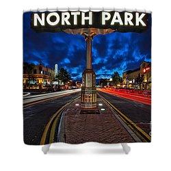 North Park Neon Sign San Diego California Shower Curtain