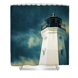 North Point Lighthouse Shower Curtain