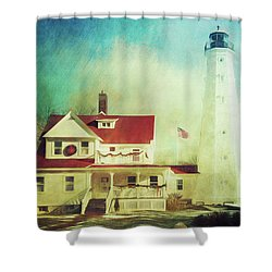 North Point Lighthouse Keeper's Quarters Shower Curtain