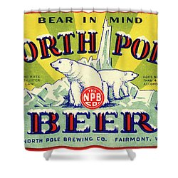 North Pole Beer Shower Curtain