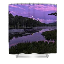 Shower Curtain featuring the photograph North Pond Blue Moon by Tom Singleton