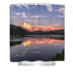 Shower Curtain featuring the photograph North Pond Sunset by Tom Singleton