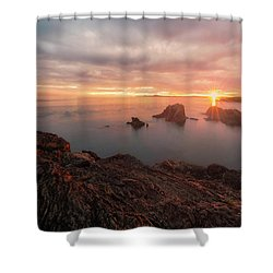 North Puget Sound Sunset Shower Curtain