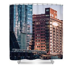 North Riverside Shower Curtain