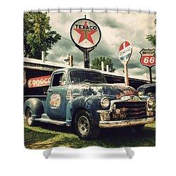 North Shore Garage Shower Curtain by Joel Witmeyer
