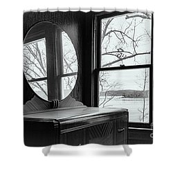 North Shore House Shower Curtain by Nicki McManus