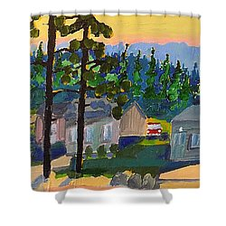 North Shore Shower Curtain by Rodger Ellingson