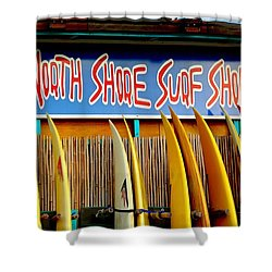 North Shore Surf Shop 2 Shower Curtain by Jim Albritton
