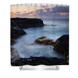 North Shore Tides Shower Curtain by Mike  Dawson