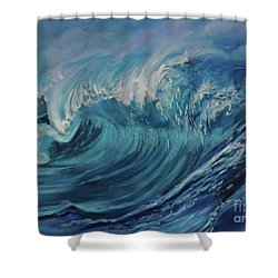 North Shore Wave Oahu Shower Curtain