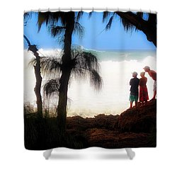 North Shore Wave Spotting Shower Curtain by Jim Albritton