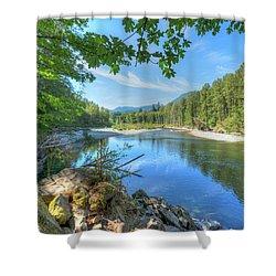 North Stilliguamish River Shower Curtain