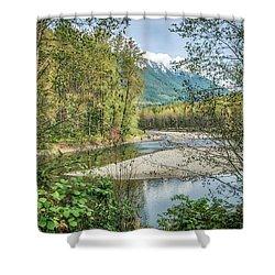 North Stilliguamish River View Shower Curtain