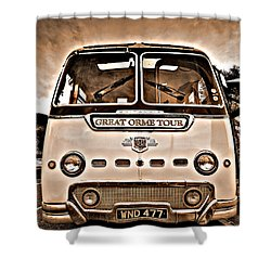 North Wales Nostalgia Shower Curtain by Meirion Matthias