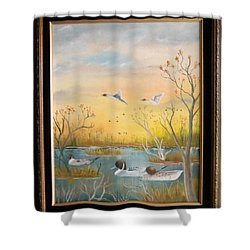 Northen Pintails Shower Curtain