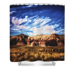 Shower Curtain featuring the photograph Northern Arizona Painted Desert  ... by Chuck Caramella