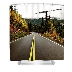 Northern Highway Yukon Shower Curtain by Mark Duffy