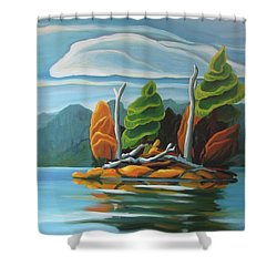 Northern Island Shower Curtain