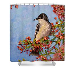 Shower Curtain featuring the painting Northern King Bird  by Joe Bergholm