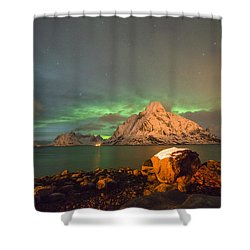 Spectacular Night In Lofoten 3 Shower Curtain