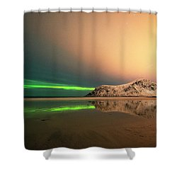 Northern Light In Lofoten Nordland 5 Shower Curtain by Dubi Roman