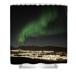 Northern Light In Troms, North Of Norway Shower Curtain by Tamara Sushko