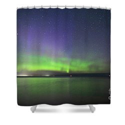 Northern Light With Perseid Meteor Shower Curtain