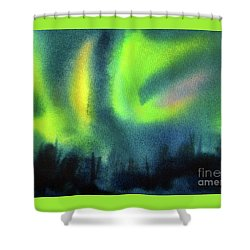 Shower Curtain featuring the painting Northern Lights 3 by Kathy Braud