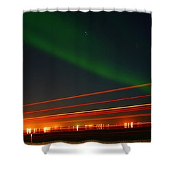 Northern Lights Shower Curtain by Anthony Jones