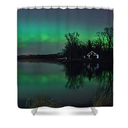 Northern Lights At Gull Lake Shower Curtain