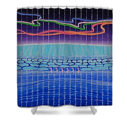 Northern Lights Ballet Production Shower Curtain