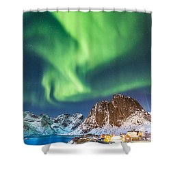 Northern Lights In Hamnoy Shower Curtain