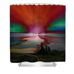 Northern Lights Shower Curtain