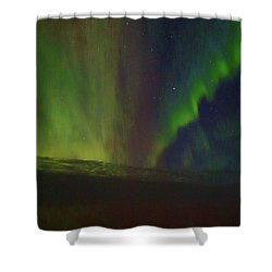 Northern Lights Or Auora Borealis Shower Curtain by Allan Levin