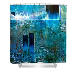 Northern Lights Rising Shower Curtain by Jim Whalen